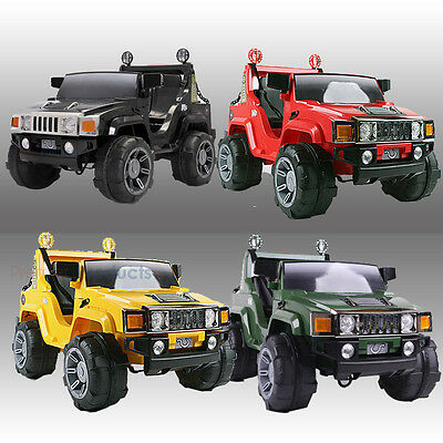 kids ride on big jeep electric childrens 12v hummer two seater toy car cars