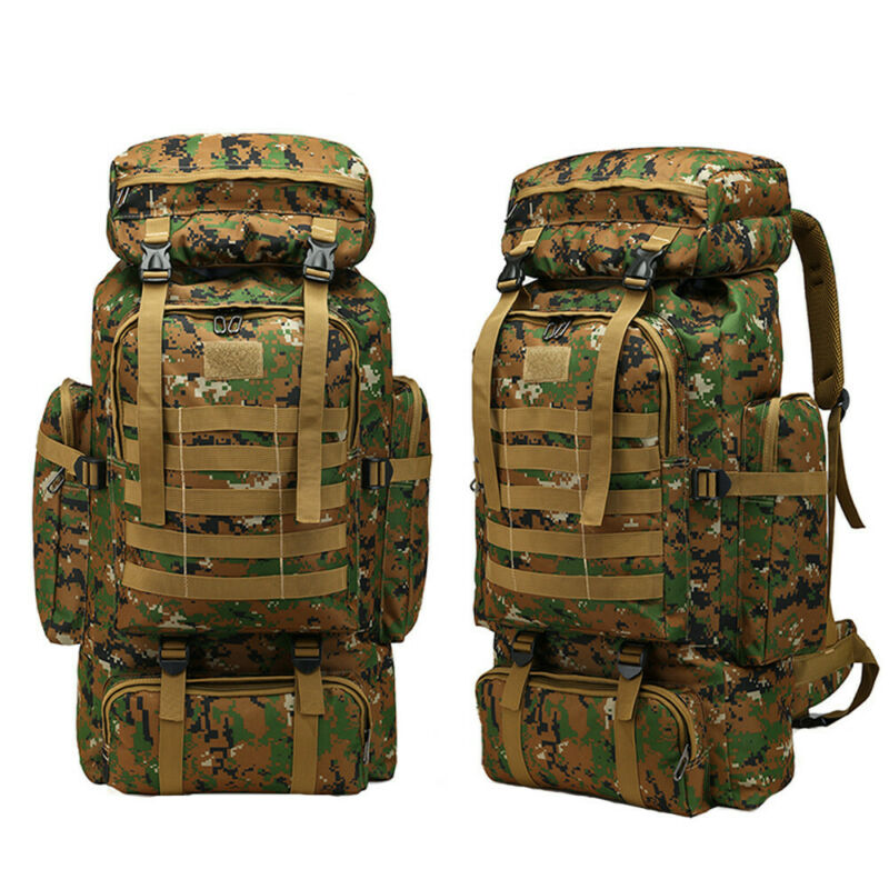 60L Molle Outdoor Military Tactical Bag Camping Hiking Hunti
