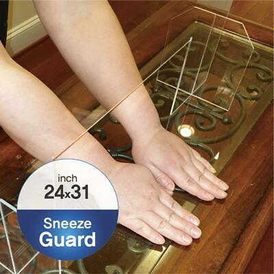 Optix Clear Acrylic Plexiglass Sheet 24 X 31 X 18 Counter Sneeze Shield Guard