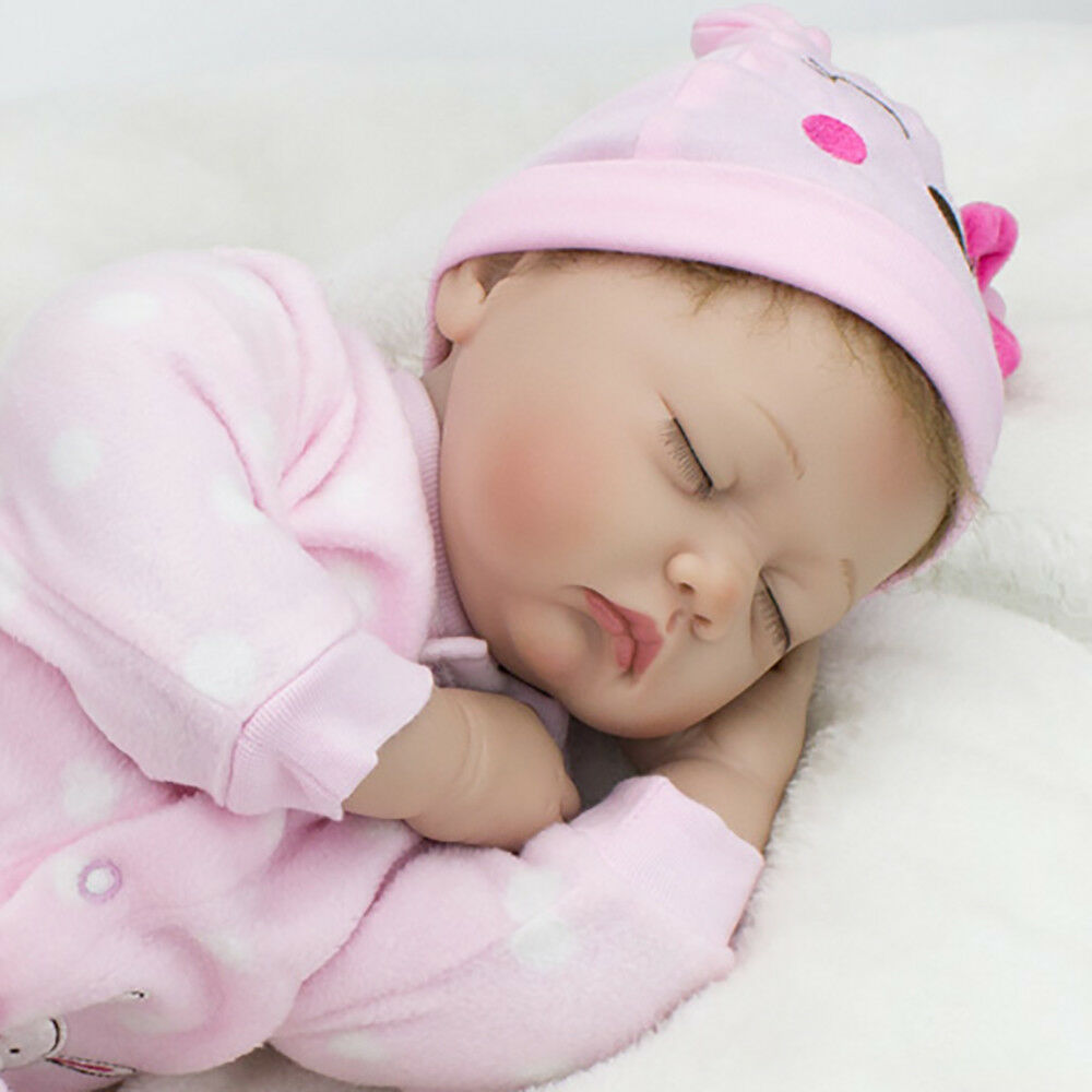 """22"""" Reborn Dolls Baby Girl Silicone doll+Clothes+Dummy Lifelike Handmade Gifts"""