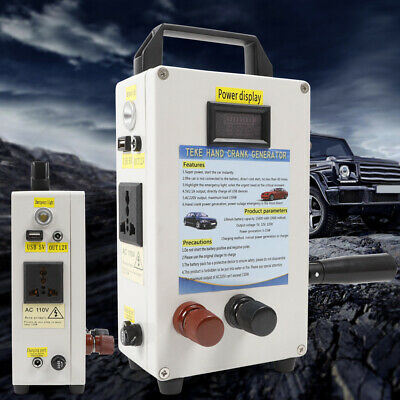 150w Hand Crank Generator Emergency Power Supply Solar Energy Storage Inverter