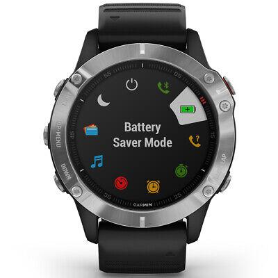 Garmin Fenix 6 Multisport GPS Smartwatch Silver with Black Band (010-02158-00)