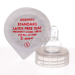 10 x STERIFEED DISPOSABLE STANDARD LATEX FREE TEAT WITH FREE DISHWASHER  BASKET