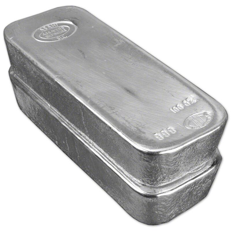 Two (2) 100 Oz. Silver Bar - Asahi Refining .999 Fine