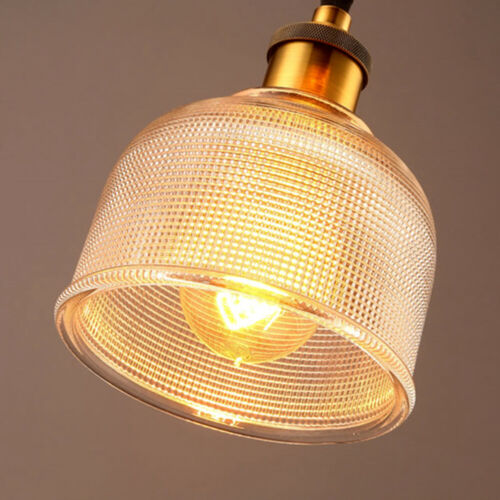 Industrial Glass Pendant Light Color Plating Ceiling Lamp Shade Hanging Fixtures 6