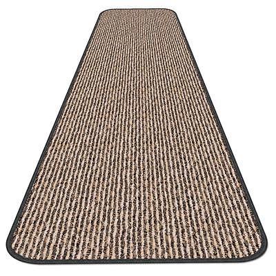 8 ft x 48 in SKID-RESISTANT Carpet Runner BLACK RIPPLE hall
