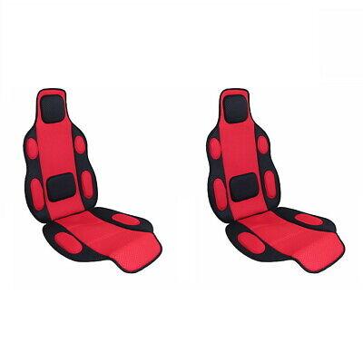 2 x Sitzauflage, Sitzschoner rot Polsterung weich für Auto PKW Bus Typ Tuning