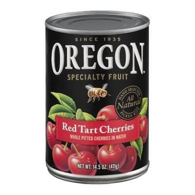Oregon Fruit-Red Tart Cherries, Pack of 3 ( 14.5 oz cans ) Cherry Pitted Fruit