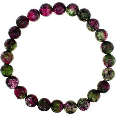 Ruby Zoisite Elastic Bracelet w/8mm Round Beads!