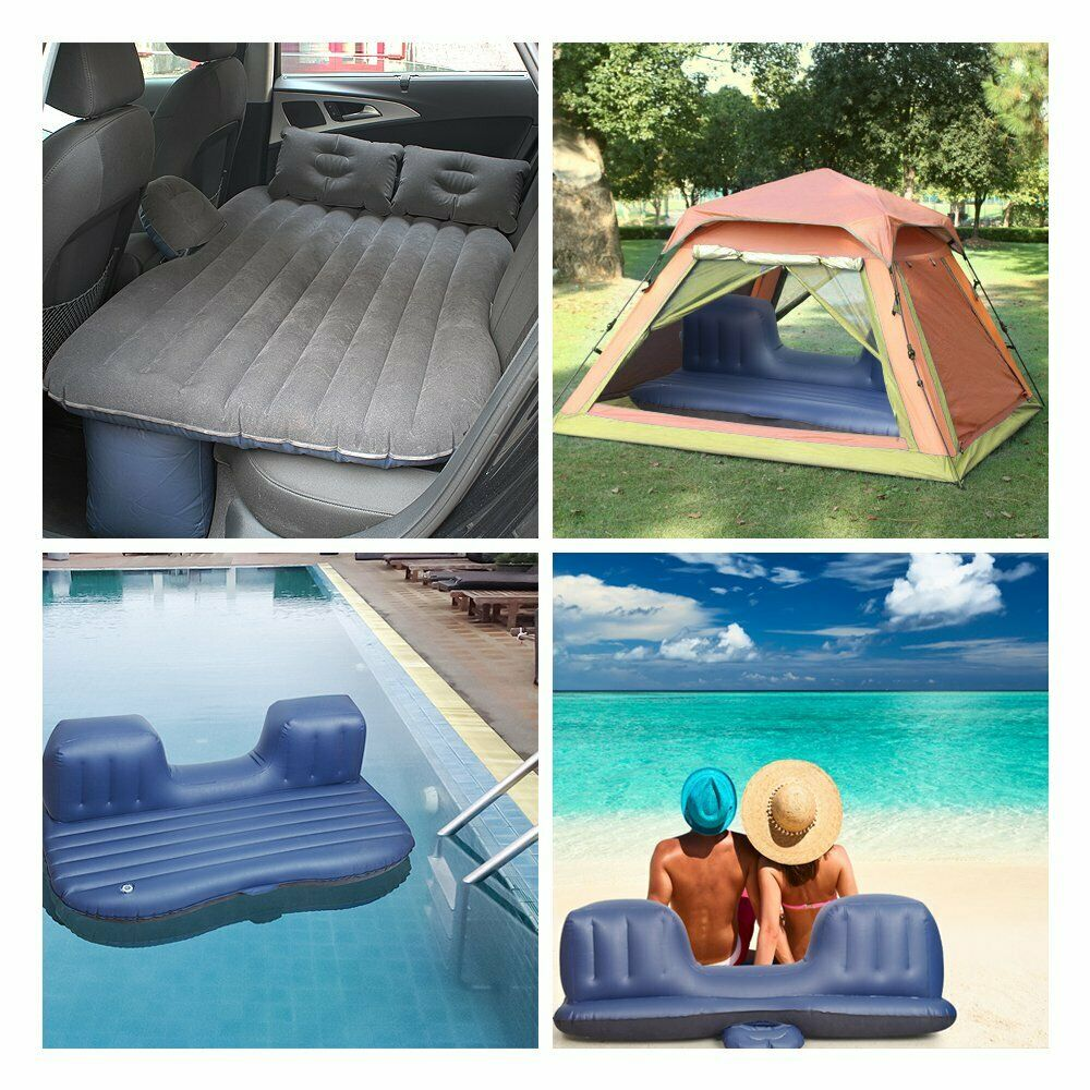 camping outdoor with 2 air pillows black