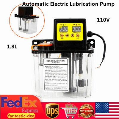 1.8l Digital Automatic Electric Lubrication Pump Oil Pump Oiler Nc Pump 110v Usa