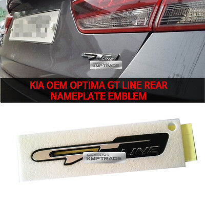 Genuine GT LINE Lettering Emblem for KIA OPTIMA K5 2016 - 2018