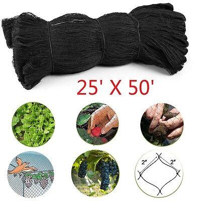 25x50 Anti Bird Netting Garden Poultry Aviary Game Net Nylon 2.0 Mesh New