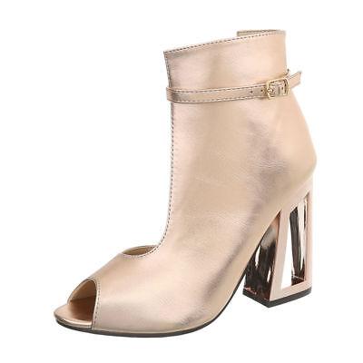 HIGH HEELS PEEP TOE PUMPS DAMENSCHUHE DESIGNER NEU Gr 37 Gold Rosa 4454 0€ Gold Peep Toe Schuhe