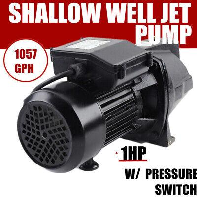 750w 1 Hp Shallow Well Jet Pump 110v Water Jet Pump Heavy-duty Pump Motor Usa