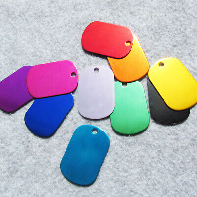 Kids Dog Tags (100pcs/lot Small Size Army Dog Tags Blank Pet ID Tag Children Pendants)