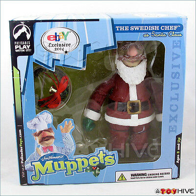 Muppet Show Palisades 2004 eBay exclusive Swedish Chef in Santa Suit box Muppets](Santa Suit Ebay)