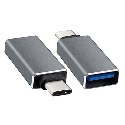USB-C 3.1 Type C Male to USB 3.0 Female Adapter for MacBook 12inch Silver