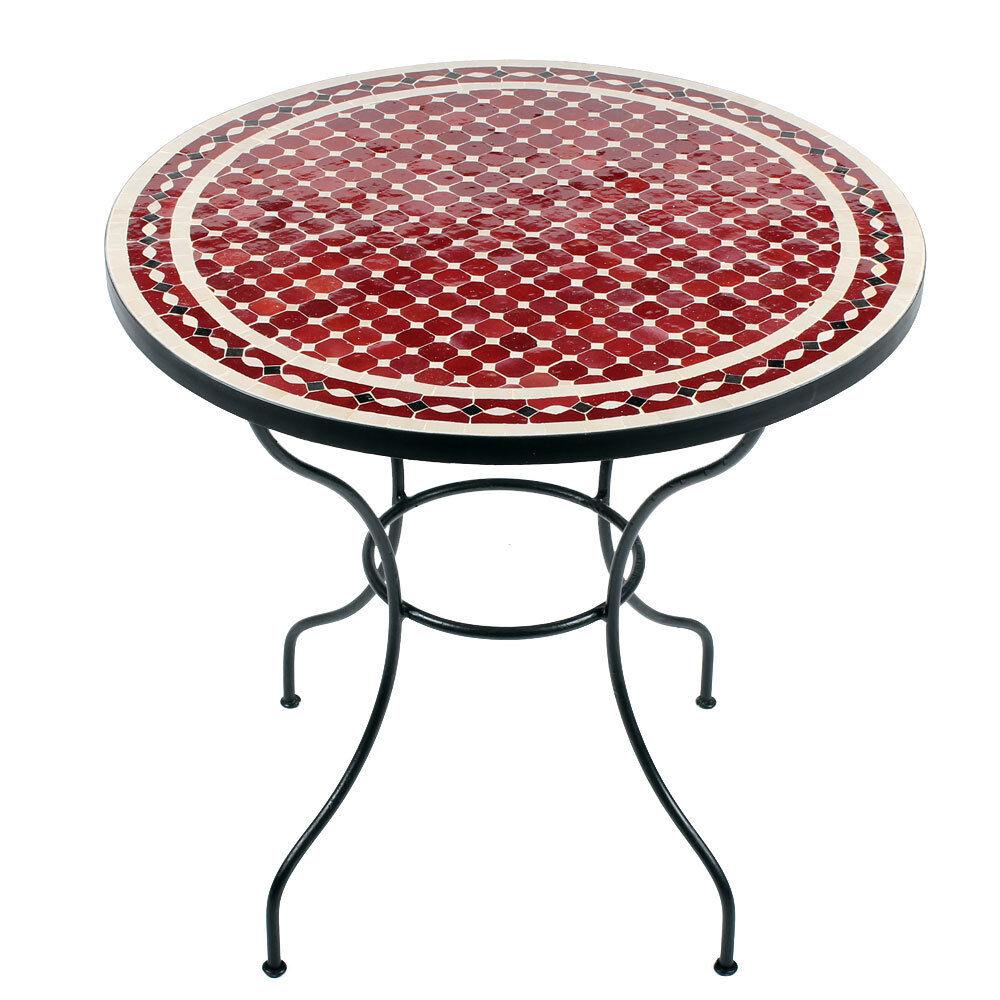 marokkanischer mosaiktisch rund orientalischer tisch esstisch gartentisch 80cm laichingen. Black Bedroom Furniture Sets. Home Design Ideas