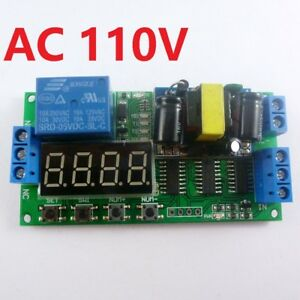 110V AC Cycle Time Timer Switch Delay Relay ON OFF Repeat 1-9999s adjustable