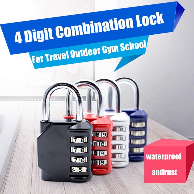 4 Digit Combination Lock Travel Outdoor Padlock Gym School E