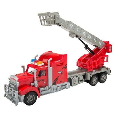 1/15 Scale Remote Control RC Fire Truck W/ Ladder Basket Set Kids Toy Xmas (Scale Remote Control Fire Truck)