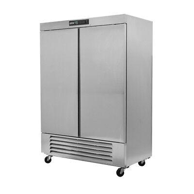 Asber Arr-49 49 Cu Ft Double Door Reach-in Solid Door Refrigerator
