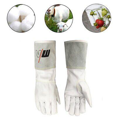 Work Gloves Top Grain Goatskin Tig Leather Welding Safety Protective Gloves L
