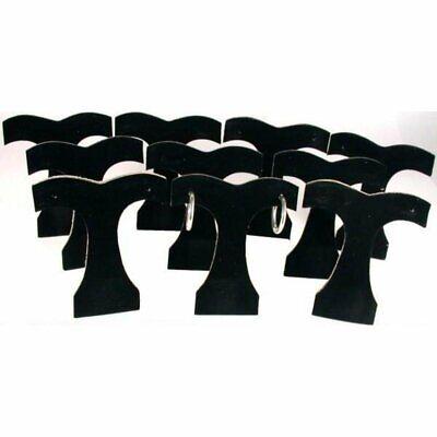 10 Black Velvet Earring Display Tree Jewelry Showcase
