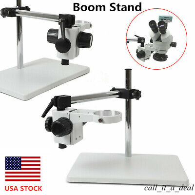 76mm Boom Stand For Stereo Microscope Focusing Holder Ring Multi-axis Rotation