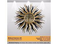 NEW Medusa Luxury Wall Mirror - Gold & Black - Gold Leaf French Italian Gothic Antique Ornate Chic