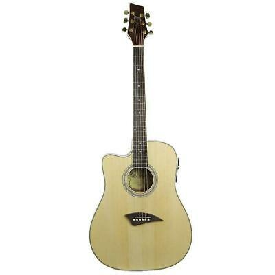 Kona K2 Series Thin Acoustic Electric Guitar Left Handed Natural K2LN