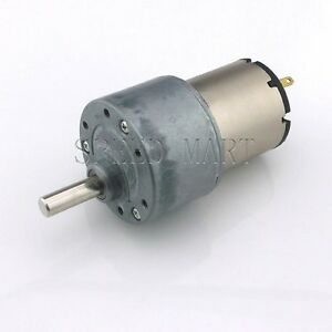 Gb37 Reversible 37mm 12v Dc 200 Rpm Gear Box Speed Control