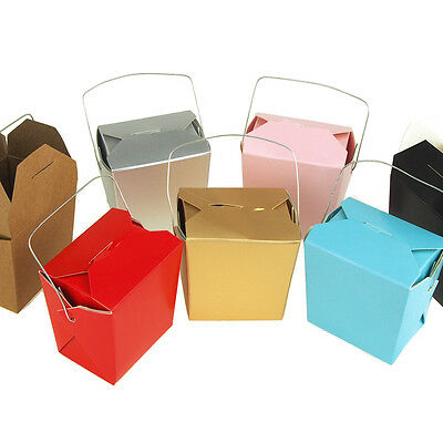 Take Out Boxes with Wire Handle Party Favors, 12-Piece