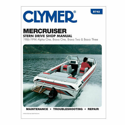 CLYMER SERVICE REPAIR MANUAL MERCRUISER STERN DRIVE 1986-1994 ALPHA BRAVO 1 2 3