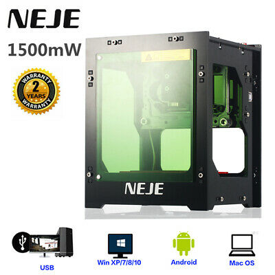Neje 1500mw 405nm Usb Laser Engraver Carver Engraving Automatic Machine Tool