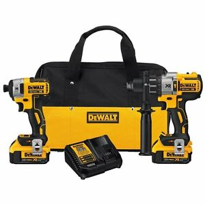 DEWALT-DCK299M2-20V-Li-Ion-4-0-Ah-Brushless-Hammer-Drill-and-Impact-Driver-Kit