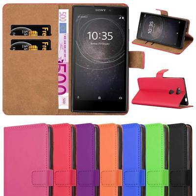 For Sony Xperia L2 Phone Case Experia Luxury Premium Leather Wallet Flip Cover