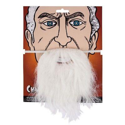 Bianco Finta Barba per Vestito da Festa Mago Puffo Babbo Natale Accessorio