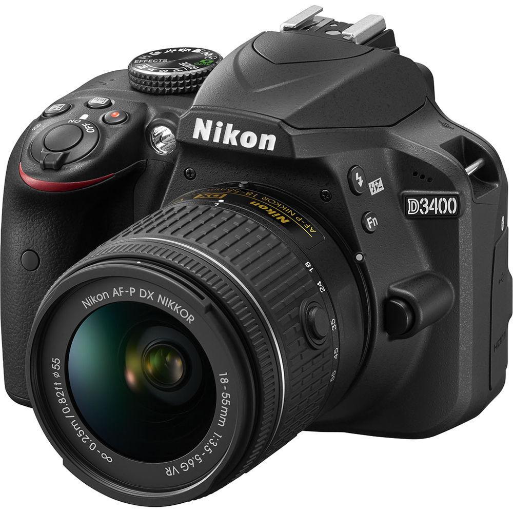 Купить NEW Nikon D3400 24.2 MP DSLR Camera 18-55mm AF-P f/3.5-5.6G VR Lens US Model