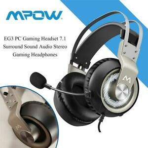 NEW Mpow EG3 PC Gaming Headset 7.1 Surround Sound Audio Stereo Gaming Headphones Noise Cancelling Over Ear Headphones...
