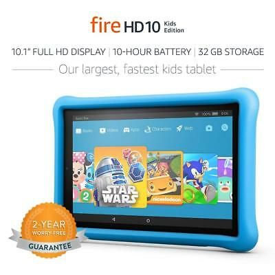 "All-New Fire HD 10 Kids Edition Tablet, 10.1"" 1080p Full HD Display, 32 GB, Blue"