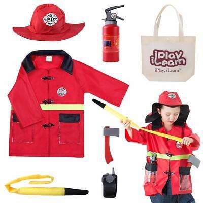Halloween Costume Firing (Kids Fire Chief Costume Halloween Fireman Dress Up Set Birthday Hoilday)