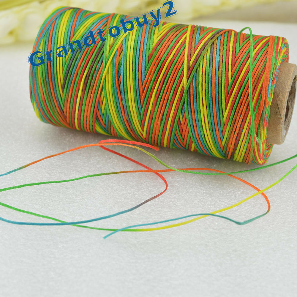 284yards 19 Colors 0.8mm Sewing Leather Waxed Thread Cord Leather Craft