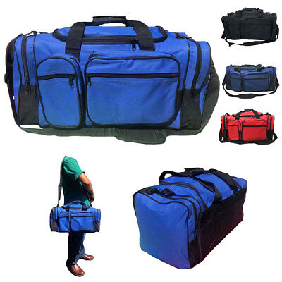 """20"""" Large Heavy Duty Strong Duffle Bags Travel Sports School"""