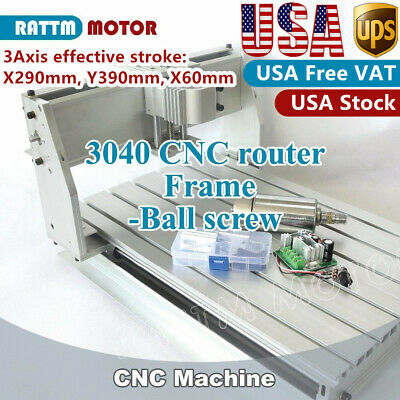 300w 3 Axis 3040 Cnc Router Engraving Mill Drilling Frame Machine52mm Clampus
