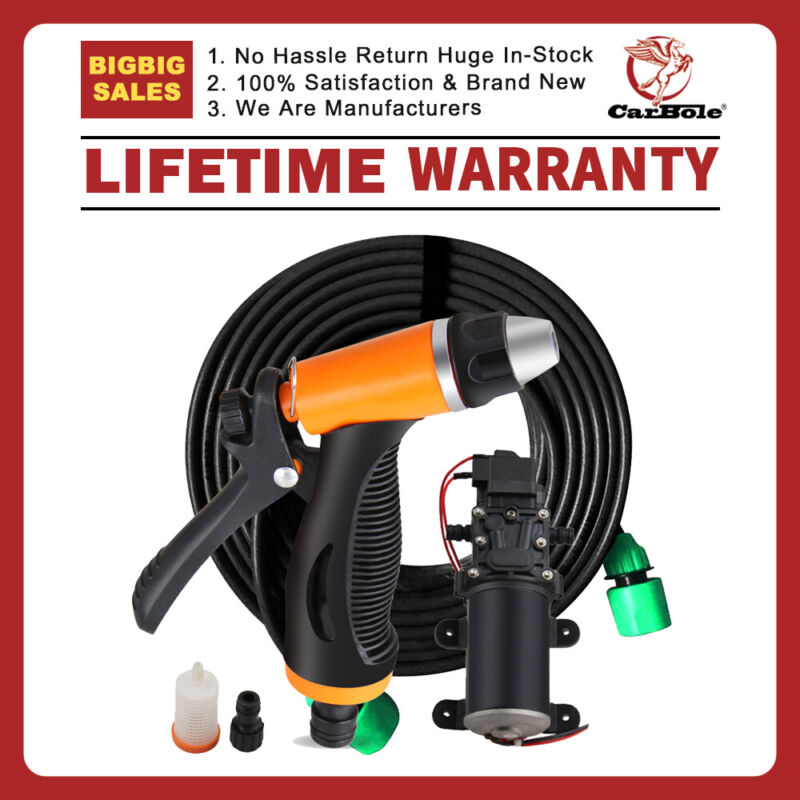 12V 80W High Pressure Self-Priming Portable Electric Car Washer Kits Water Pump