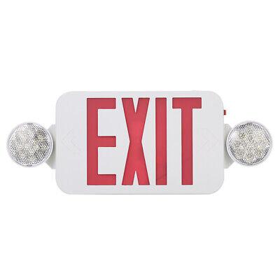 Emergency Exit Light Combo Ul-94v-0 Flame Ratingindicator Lightul Listed W3s6