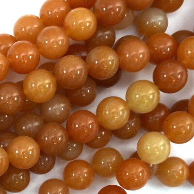 "Red Aventurine Round Beads Gemstone 15"" Strand 4mm 6mm 8mm 10mm 12mm"
