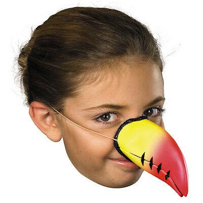 Premium Toucan Nose Rubber Latex Mask Elastic Childs Adult Fake Bird Beak Parrot